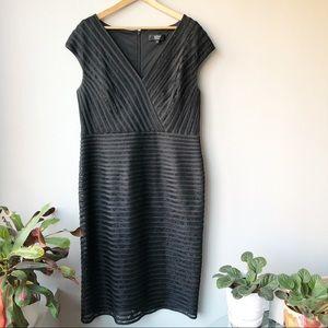 Tadashi Collection Black Lace Sz 16 Cocktail Dress